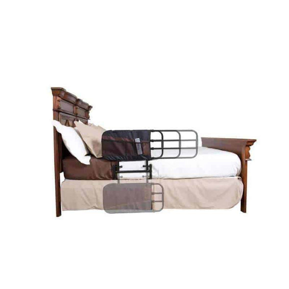 Stander EZ Adjust & Pivoting Adult Home Bed Rail with Storage Pouch