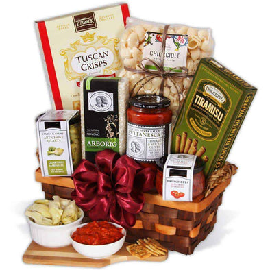 Gourmet Gift Baskets Table In Tuscany - Italian Gift Basket