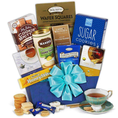 Gourmet Gift Baskets Tea & Cookies Gift Basket Classic
