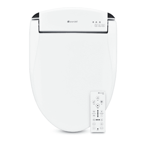 Brondell Swash Bidet Seat White with Air Dryer and Stainless-Steel Nozzle, Nightlight, Deodorizer & Remote Control