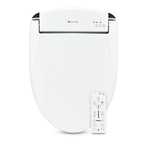 Brondell Swash Bidet Seat White with Air Dryer and Stainless-Steel Nozzle, Nightlight, Deodorizer & Remote Control - Senior.com Bidets