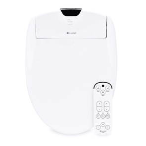 Brondell Swash S1200 Luxury Bidet Toilet Seat White with Dual Stainless-Steel Nozzles, Endless Warm Water, Programmable User Settings, Self-Cleaning Nozzles & Nightlight
