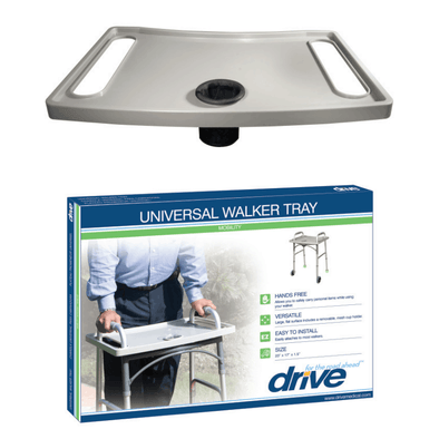Drive Medical Universal Walker Tray with Cup Holder 10124