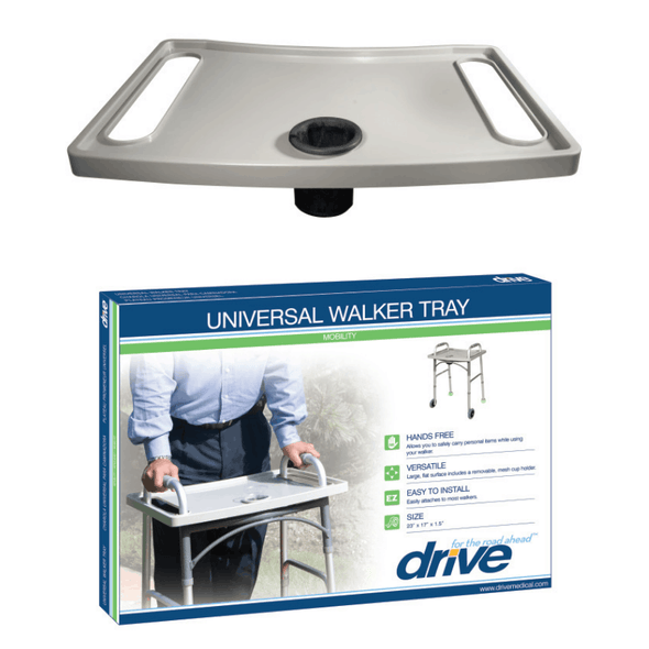Drive Medical Universal Walker Tray with Cup Holder - Senior.com Walker Parts & Accessories