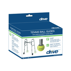 Drive Medical Walker Rear Tennis Ball Glides with Additional Glide Pads - 1 Pair