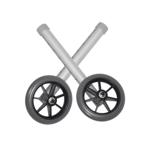 Drive Medical Universal Walker Wheels with 5 Inch Casters - 1 Pair