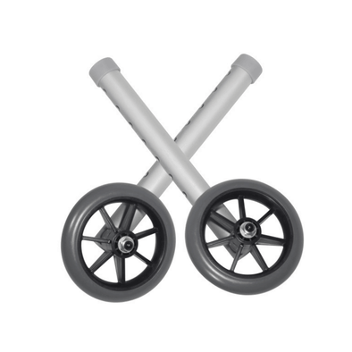 Drive Medical Universal Walker Wheels with 5 Inch Casters - 1 Pair - Senior.com Walker Parts & Accessories
