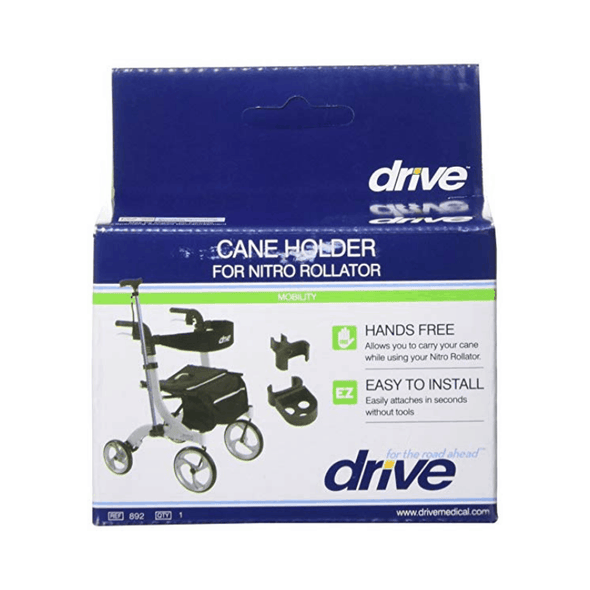 Drive Medical Nitro Rollator Rolling Walker Cane Holder - Senior.com Walker Parts & Accessories