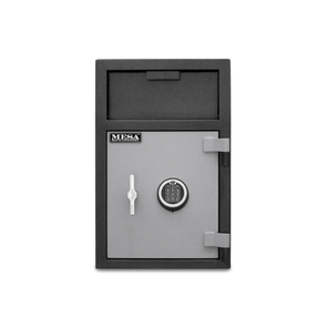 Mesa Safes All Steel MFL25E-ILK Depository Safe with Interior Locker & Electronic Lock - 2.1 cu ft