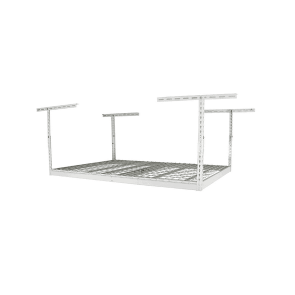 Saferacks – 3×6 Overhead Garage Storage Rack – White - Senior.com Storage Racks