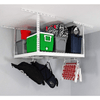 Saferacks – 4×4 Overhead Garage Storage Rack – White - Senior.com Storage Racks