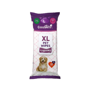 Cooshpets Premium Formulations XL Flushable Pet Wipes - 48 Wipes Per Pack - Senior.com Pet Wipes