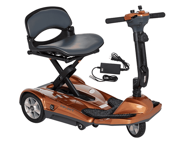 EV Rider Transport EZ Easy Move Folding Electric Mobility Scooter S19M Copper