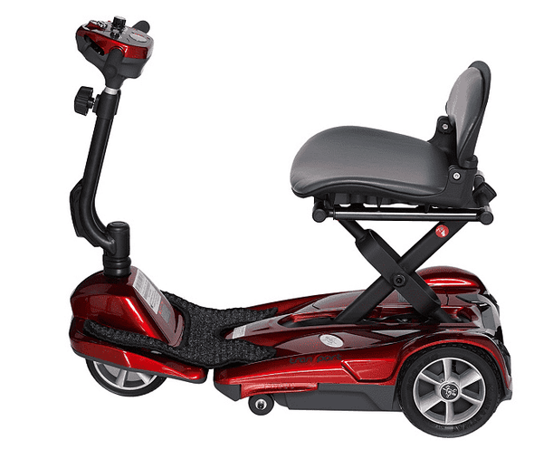 EV Rider Transport EZ Easy Move Folding Electric Mobility Scooter S19M Red
