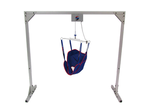 Traxx Titan 500 Freestanding Overhead Patient Lift with Universal Ergonomic Sling - Senior.com Patient Lifts