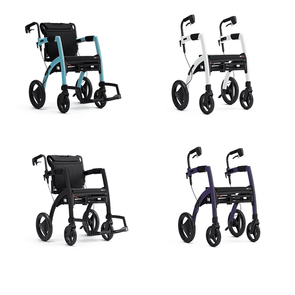 Rollz Motion Premium 2-in-1 Rollator & Transport Chairs