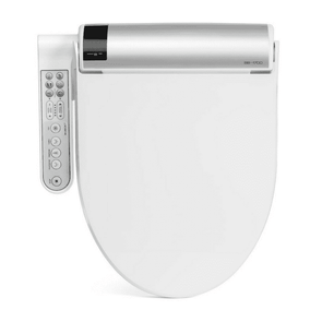 BioBidet BLISS BB-1700 Elongated White Bidet Toilet Seat with Hybrid Heating Hydroflush Technology