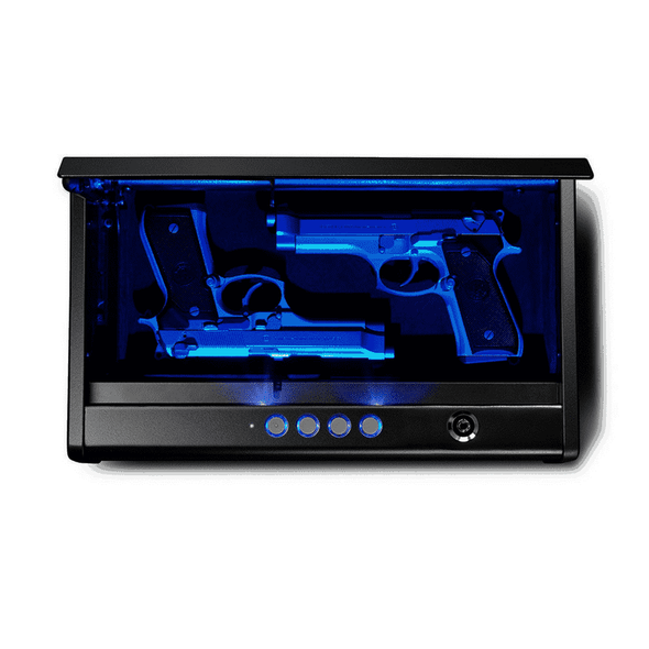 SentrySafe Pistol Safe Quick Access Electronic Keypad Gun Safe - Two Pistol Capacity & LED Interior Lights - Senior.com Security Safes