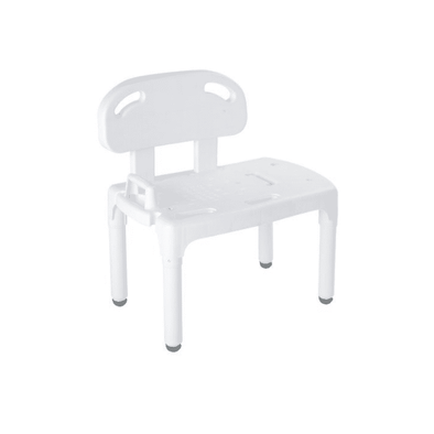 Carex Universal Tub Transfer Bench - Chair Converts to Right or Left Hand Entry - Open Box - Senior.com Transfer Equipment
