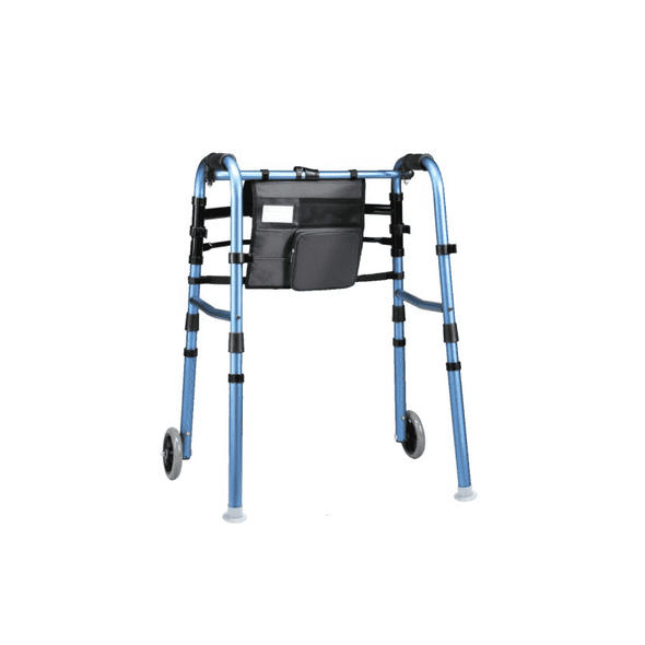 "Carex Explorer Folding Walker with 5"" Wheels, Glides, and Organizer - Senior.com walkers"