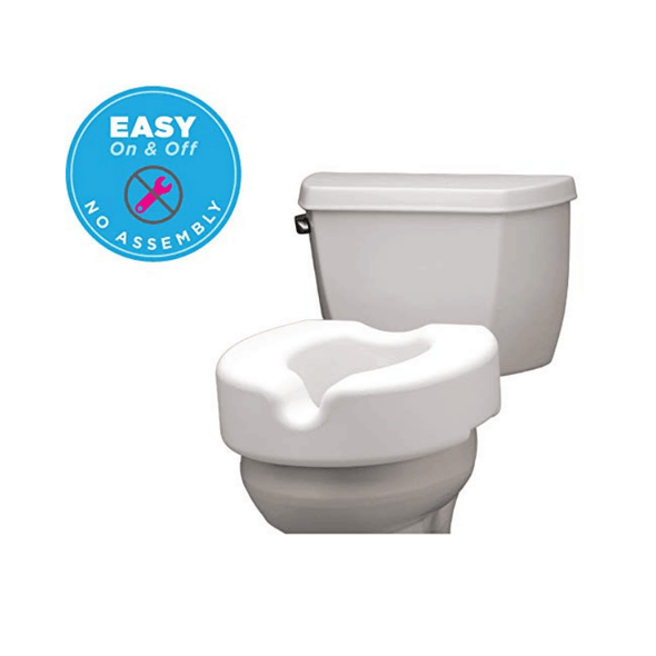 Nova Medical Elevated Raised Toilet Seat for Standard and Elongated - Senior.com Raised Toilet Seats