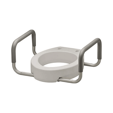 Nova Medical Toilet Seat Risers with Arms - Adds 3.5 Inches - Fall Prevention and Bathroom Safety Products For Seniors