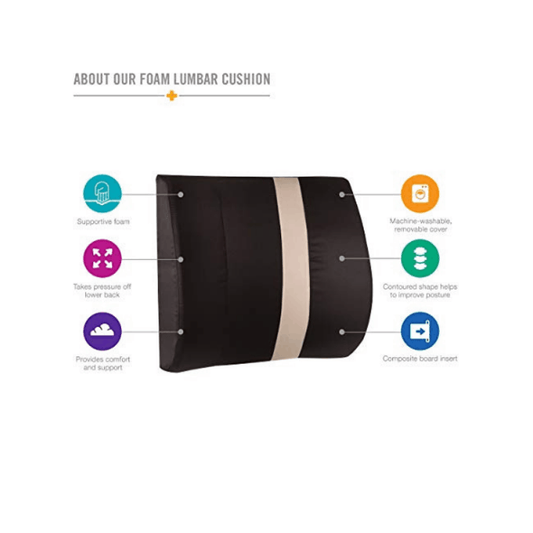 HealthSmart Vivi Relax-a-Bac Lumbar Support Cushions with Strap