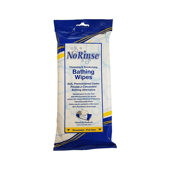 Clean Life No Rinse Bathing Wipes – 8 Wipes Per Pack - Senior.com Bathing Wipes