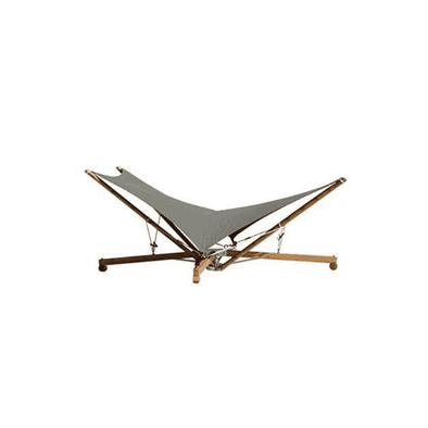 Vivere Kajito Earth and Moon Bamboo Hammock Deck Chair - Grey