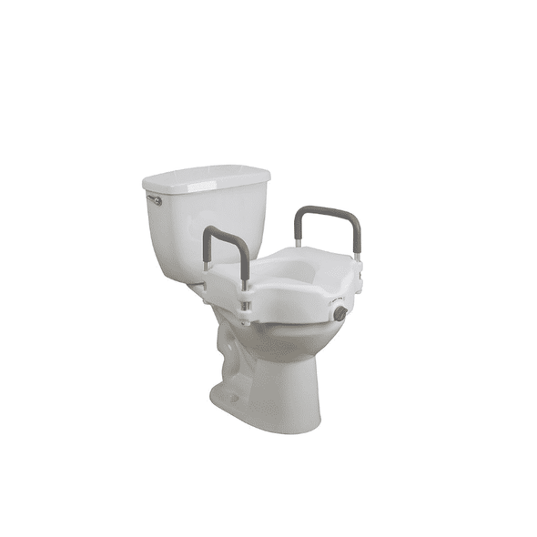 Drive Medical Elevated Raised Toilet Seat with Removable Padded Arms Standard Seat - Senior.com Raised Toilet Seats