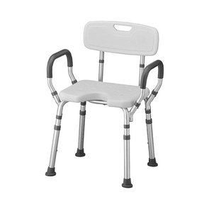 Nova Medical Bath Seat with Arms & U-Shaped Cutout - Senior.com Bath Benches & Seats