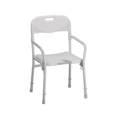 NOVA Medical Folding Shower Chair with U-Shaped Cutout & Back Support 9400