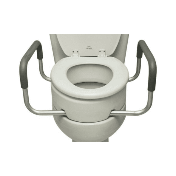 Essential Medical Supply Toilet Seat Risers with Removable Arms - Senior.com Raised Toilet Seats