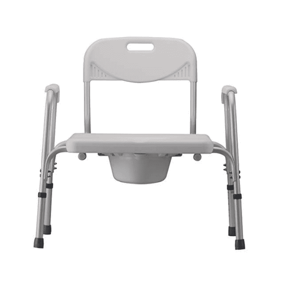 NOVA Medical Bariatric Heavy Duty Commode with Back & Wide Seat - Senior.com Commodes