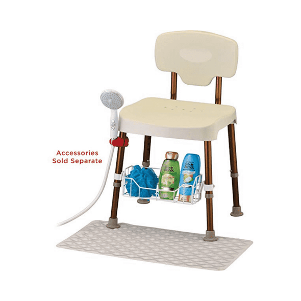 Nova Medical Tool-Free Bath Seat With Back - Senior.com Bath Benches & Seats
