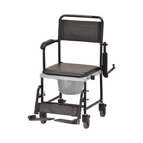 Nova Medical Drop-Arm Transport Chair Commode with Wheels 8805