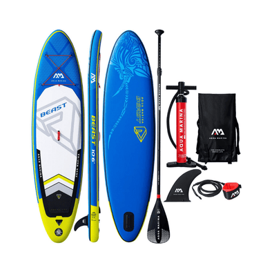 "Aqua Marina Beast Inflatable Stand Up Paddle Board 10'6"" (6"" Thick) BT-18BE"
