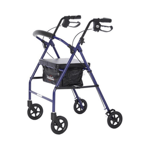 "Lifestyle Mobility Aids Folding Royal Steel Rollator with 6"" Wheels"