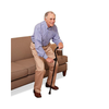 Carex Stand Assist Uplift Walking Cane with Secondary Flip Down Handle - Senior.com Canes