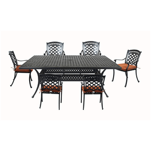 Summerset Casual St. Tropez Aluminum 7 Piece Rectangular Patio Dining Set - Senior.com Patio Furniture