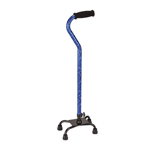 Nova Medical Lightweight Height Adjustable Quad Canes with Soft Grip Handle - Senior.com Quad Canes