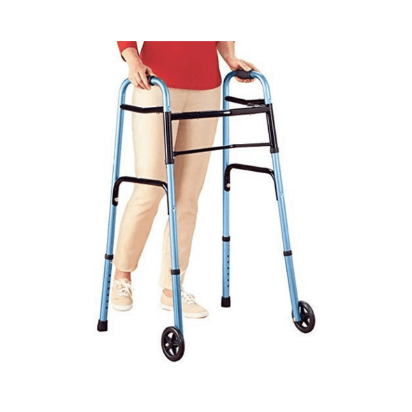 "Lumex ColorSelect Adult Walkers with 5"" Wheels - Senior.com Walkers"