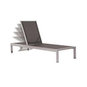 Vivere Urban Sun Loungers in Brushed Aluminum - Full Recline - Senior.com Outdoor Chairs