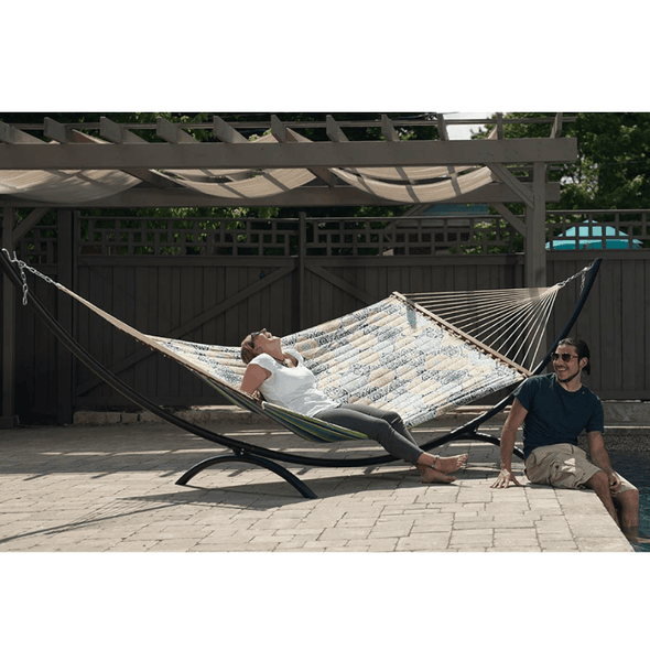 Vivere 15 Foot Arc Steel Heavy Duty Hammock Stands - Senior.com Hammock Stands
