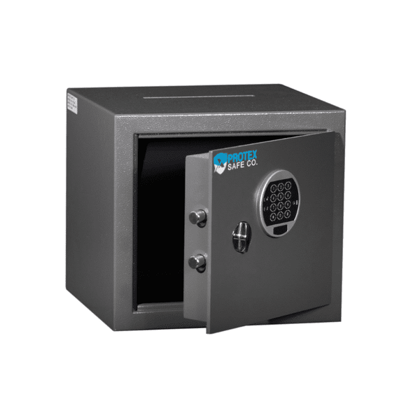 Protex Top Drop Depository Burglary Safe with Electronic Digital Lock - Senior.com Security Safes