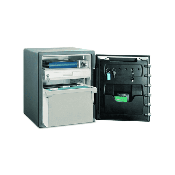SentrySafe Large Electronic Lock Water and Fire Resistant Safe with Drawer & Locking Box SFW205EVB