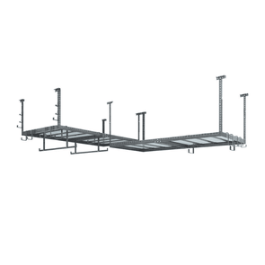 New Age Products VersaRac Set with 2 Overhead Rack and 20 Piece Accessory Kit (Hanging Bars, S-Hooks and J-Hooks)