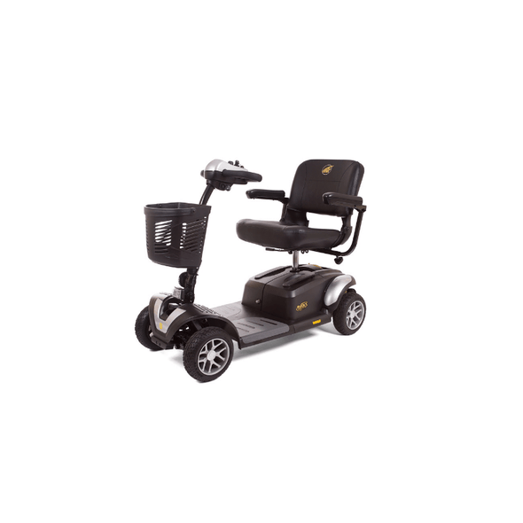 Golden Technologies BuzzAround EX Extreme 4-Wheel Heavy Duty Long Range Travel Scooter GB148D Silver