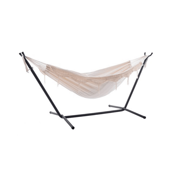 Vivere Double Hammock with Universal Hammock Stand Natural