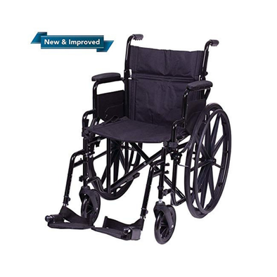 "Carex Compact Folding Wheelchair with Large 20"" Padded Seat - Senior.com Wheelchairs"